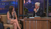 Kara DioGuardi - Hot and leggy on The Tonight Show with Jay Leno 03-15-2010