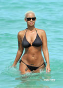 Amber Rose - Hits Miami Beach in a Black Bikini (x13 SHQ)