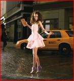 Emma Stone As Carrie Bradshaw For Glamour Magazine's Celebrates American Icons Photoshoot