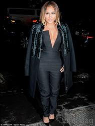 Adrienne Bailon 7 sexy deep cleavage black outfit