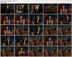 Alexis Bledel @ Late Late Show w/Craig Ferguson 2009-08-10